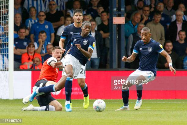 Terence Kongolo of Huddersfield Town during the Sky Bet Championship match between Luton Town and Huddersfield Town at Kenilworth Road on August 31,...