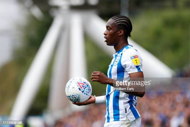 Terence Kongolo of Huddersfield Town during the Sky Bet Championship match between Huddersfield Town and Sheffield Wednesday at John Smith's Stadium...