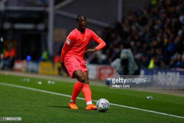 Terence Kongolo of Huddersfield Town during the Sky Bet Championship match between Preston North End and Huddersfield Town at Deepdale on November...