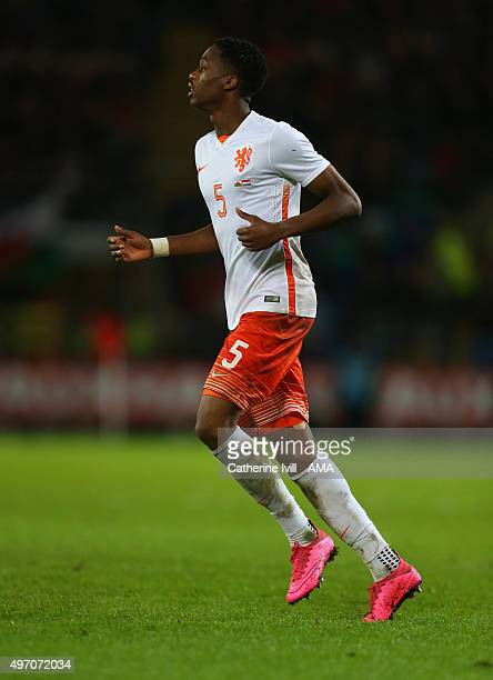 Terence Kongolo of Netherlands during the International Friendly match between Wales and Netherlands at Cardiff City Stadium on November 13 2015 in...