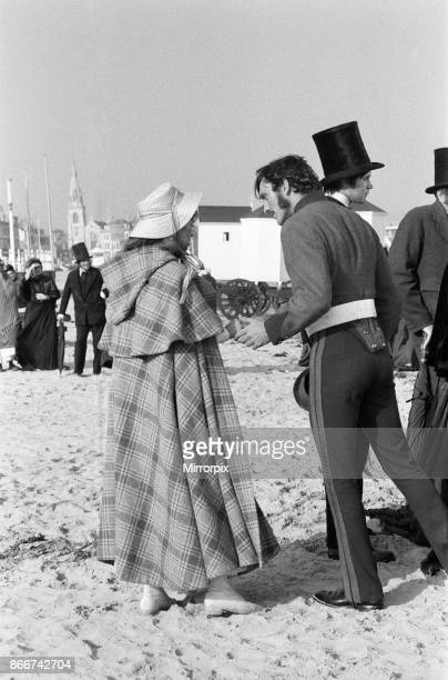 Terence Stamp and Julie Christie on the set of 'Far from the Madding Crowd' in Weymouth Dorset 27th September 1966