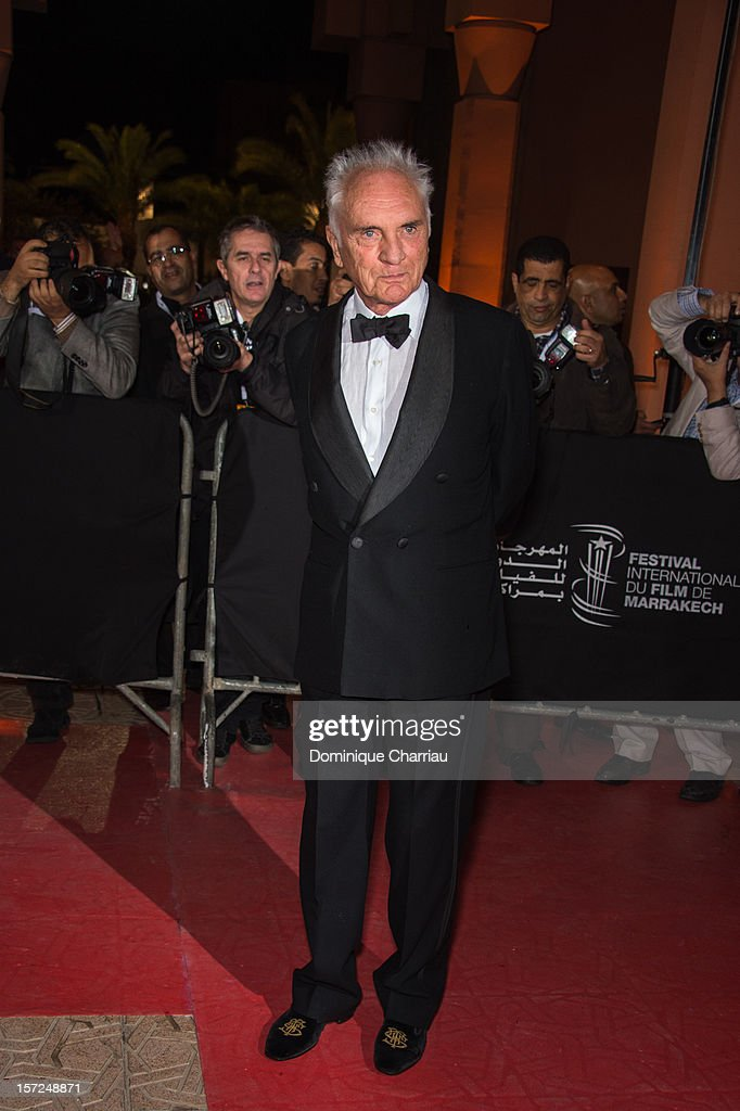 Terence Stamp attends the 'Touch Of The Light' Opening Film of the 12th Marrakech International Film Festival on November 30, 2012 in Marrakech, Morocco.