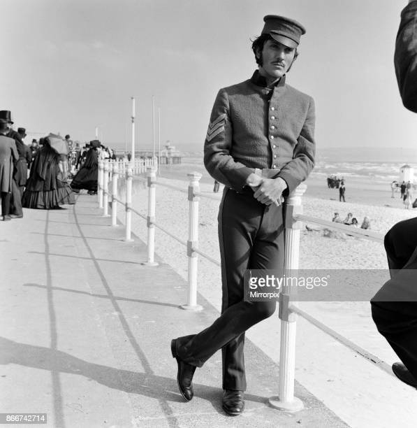 Terence Stamp on the set of 'Far from the Madding Crowd' in Weymouth Dorset 27th September 1966