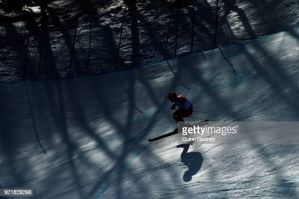 Terence Tchiknavorian of FranIgor Omelin of Olympic Athlete from Russiacompetes in the Freestyle Skiing Men's Ski Cross Seeding on day 12 of the...