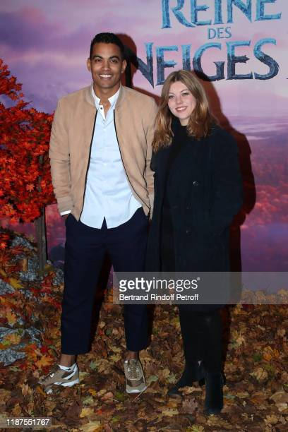 "Terence Telle and Heloise Martin attend the ""Frozen 2 - La Reine Des Neiges 2"" Paris Gala Screening at Cinema Le Grand Rex on November 13, 2019 in..."