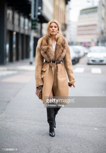 Teresa Andres Gonzalvo attends the Ermanno Scervino show at Milan Fashion Week Autumn/Winter 2019/20 on February 23 2019 in Milan Italy