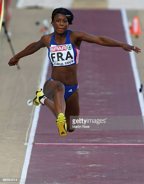 Teresa Ba Nzola Meso of France competes during the women's triple jump during day one at the Spar European Team Championship at the Estadio Municipal...