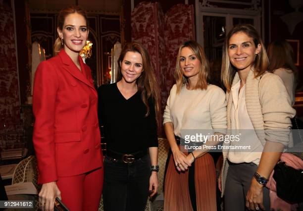 Teresa Baca Amelia Bono Andrea Pascual and Beatriz Mira attend 'The Petite Special Day' fashion show at the Santo Mauro Hotel on January 31 2018 in...