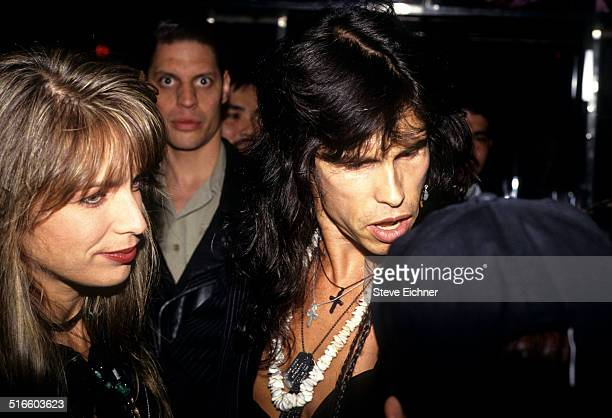 Teresa Barrick Steven Tyler of Aerosmith Celebrate Joan Rivers Gossip Party at Club USA New York April 28 1993