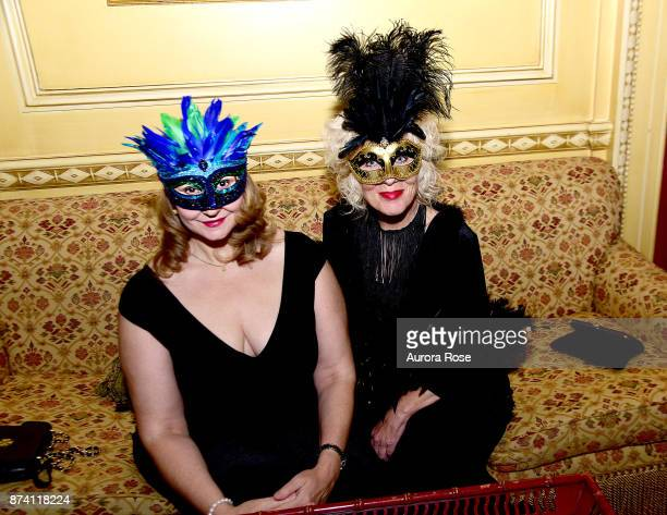 Teresa Buell and Lois Broderick attend Search and Care's Annual Yorkville Ball at Private Club on November 10 2017 in New York City