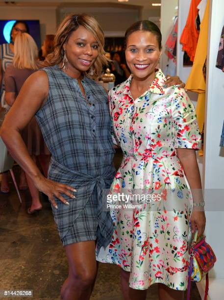 Teresa Caldwell and Terrinee L Gundy attend EveryHue PopUp Shop at Swagg Boutique on July 13 2017 in Atlanta Georgia