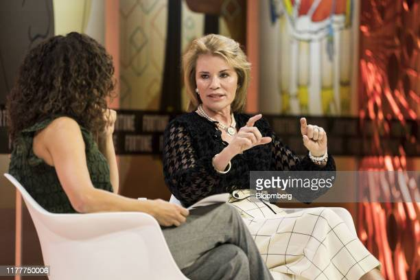 Teresa Carlson, vice president of the worldwide public sector at Amazon Web Services LLC, speaks during the Fortune's Most Powerful Women Summit in...