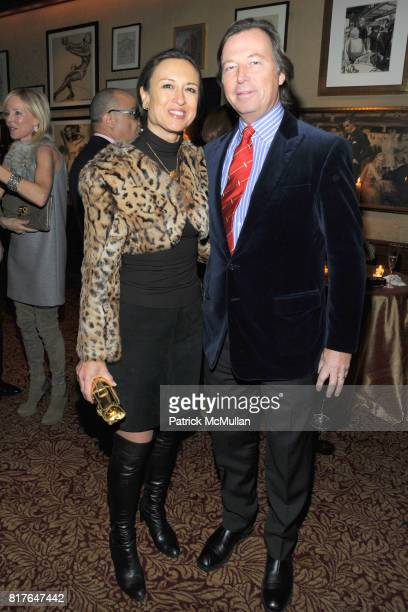 Teresa Colley and Bruce Colley attend ANNE HEARST MCINERNEY JAY MCINERNEY and GEORGE FARIAS Holiday Party at 21 Club on December 16 2010 in New York...