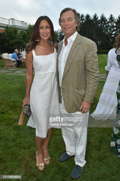 Teresa Colley and Bruce Colley attend the RitaHayworthGala Hamptons Kickoff Event hosted by Alzheimer's Associationat Private Residence on August...
