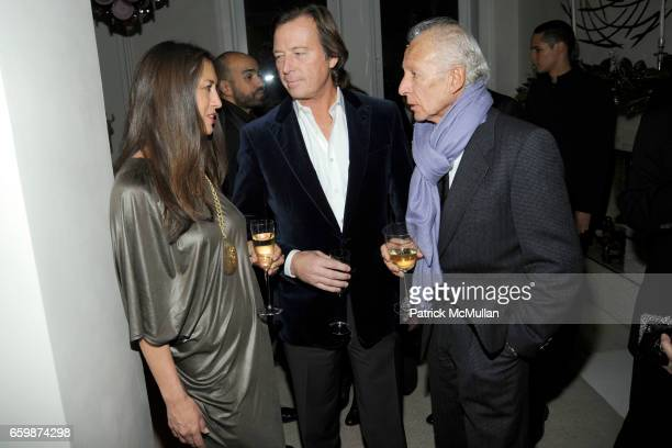 Teresa Colley Bruce Colley and Ron Delsener attend Diandra de Morrell Douglas Anne and Jay McInerney Holiday Party at Private Residence on December...