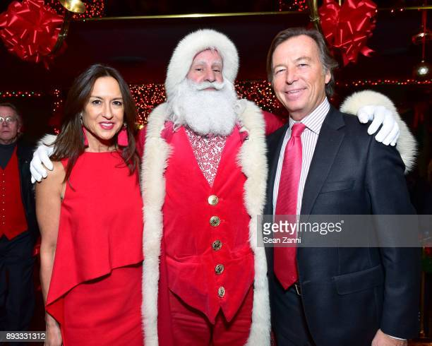 Teresa Colley Santa Claus and Bruce Colley attend A Christmas Cheer Holiday Party 2017 Hosted by George Farias and Anne and Jay McInerney at The...