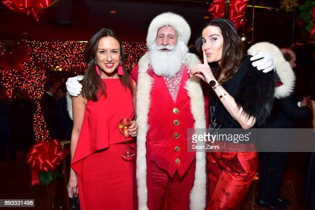 Teresa Colley Santa Claus and Guest attend A Christmas Cheer Holiday Party 2017 Hosted by George Farias and Anne and Jay McInerney at The Doubles...