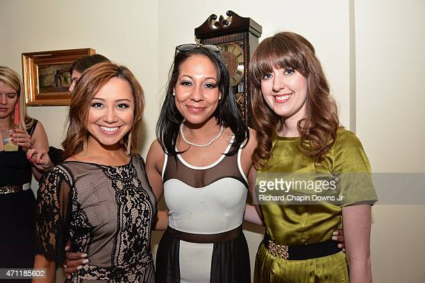 Teresa Davis Cherie Grissett and Sarah Corley attend the IJReview Discus Speakeasy Party on April 25 2015 in Washington DC