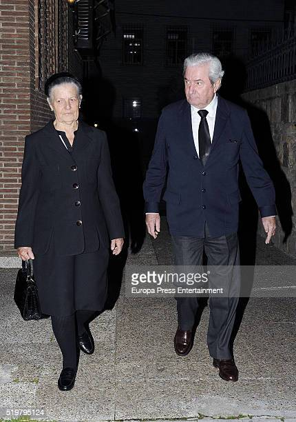 Teresa de Borbon Dos Sicilias attends the funeral service for Prince Kardam of Bulgaria on the first anniversary of his death at Santos Andres and...