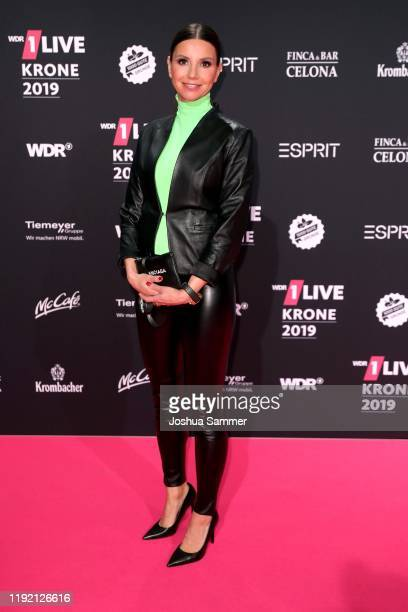 Teresa Enke arrives for the 1Live Krone radio award at Jahrhunderthalle on December 05 2019 in Bochum Germany