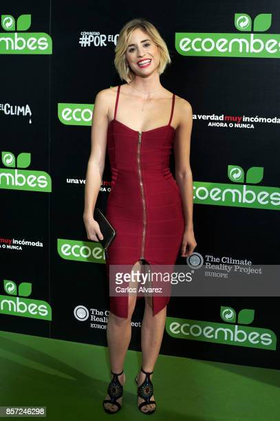 Teresa Ferrer attends 'An Inconvenient Sequel Truth to Power' premiere at the Callao cinema on October 3 2017 in Madrid Spain