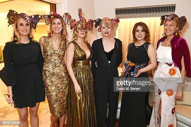 Teresa Fitzherbert Susanna Warren Ellie Goulding Alby Bailey Princess Eugenie of York and Caroline Rupert attend a VIP dinner to celebrate The Animal...