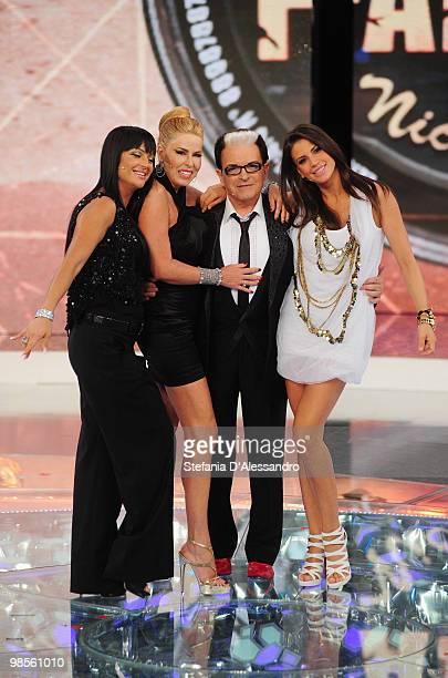 Teresa Fraddosio Loredana Lecciso Cristiano Malgioglio and Claudia Galanti attend 'L'Isola Dei Famosi' Italian Tv Show held at Rai Studios on April...