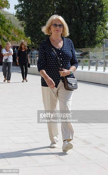 Teresa Gimpera attends the funeral for the Spanish designer Manuel Pertegaz on August 31 2014 in Barcelona Spain