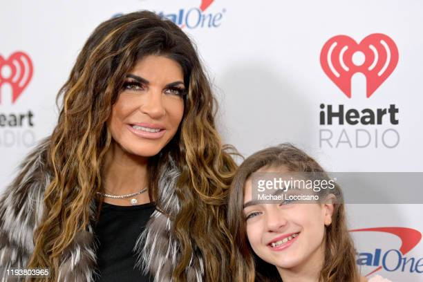 Teresa Giudice and Audriana Giudice arrive at iHeartRadio's Z100 Jingle Ball 2019 Presented By Capital One on December 13, 2019 in New York City.