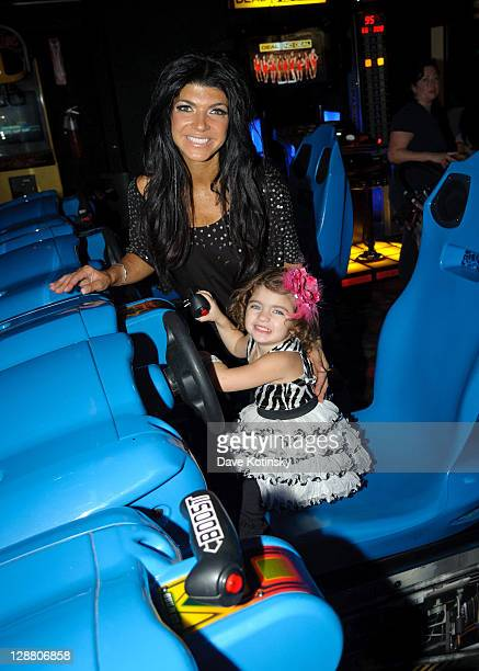 Teresa Giudice and Audriana Giudice celebrate Audriana and Gabriella Giudices' birthday party at Space Odyssey on October 9 2011 in Englewood New...