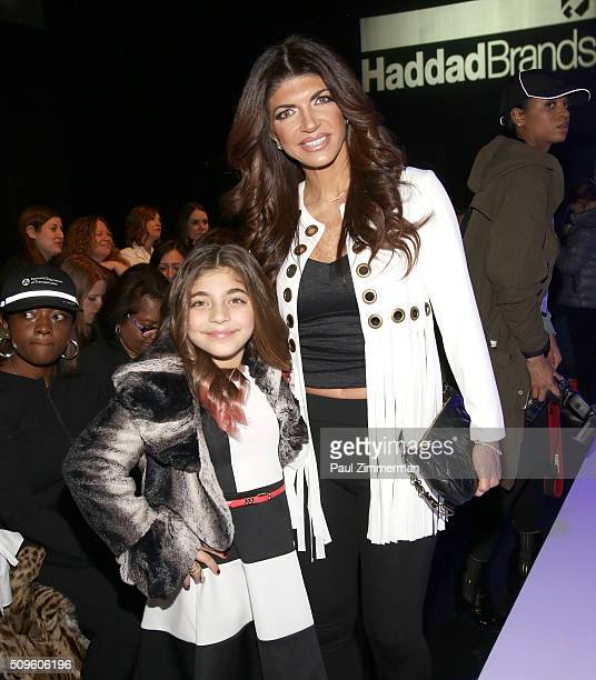 Teresa Giudice and daughter Milania Giudice atend front row at the Rookie USA Presents Kids Rock! - Front Row & Backstage - Fall 2016 New York...