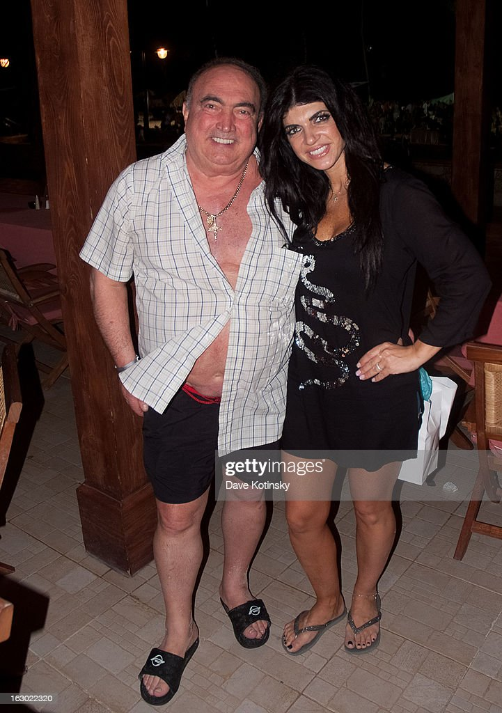 Teresa Giudice and father Giacinto Gorga at the Majestic Resort in Punta Cana on March 3, 2013 in UNSPECIFIED, Dominican Republic.