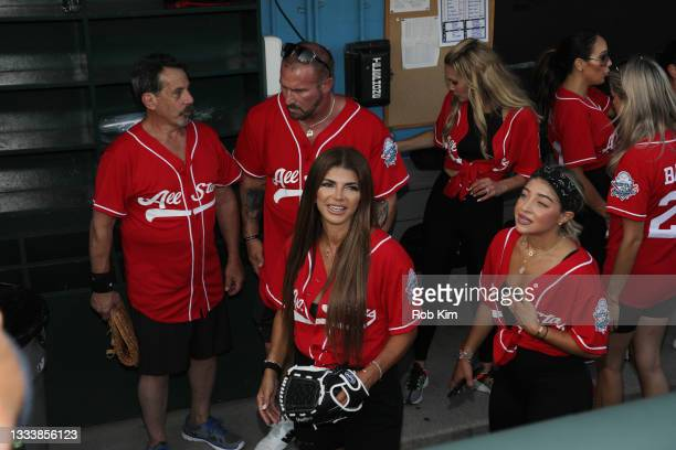 Teresa Giudice and Gia Giudice attend the 2021 Battle for Brooklyn celebrity softball game at Maimonides Park, Coney Island on August 12, 2021 in New...