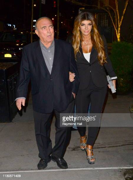 Teresa Giudice and Giacinto Gorga are seen outside a hotel on March 14 2019 in New York City
