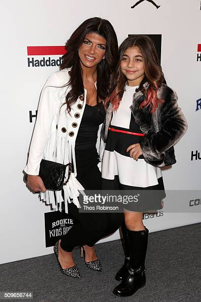 Teresa Giudice and her daughter attends Nike/Levi's Kids Rock Runway Show on February 11 2016 in New York City