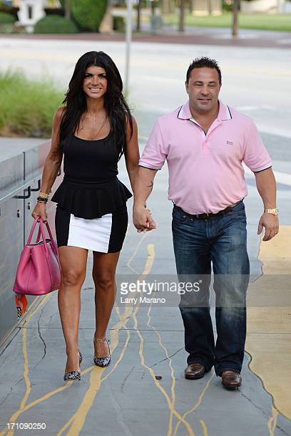 Teresa Giudice and her husband Joe Giudice for her book signing 'Fabulicious On The Grill Teresa's Smoking Hot Backyard Recipes' at Books and Books...