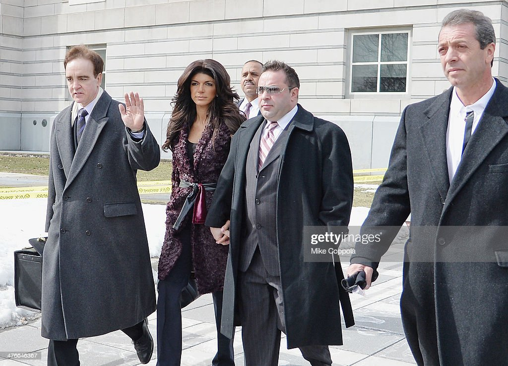 Teresa And Joe Giudice Court Appearance : News Photo