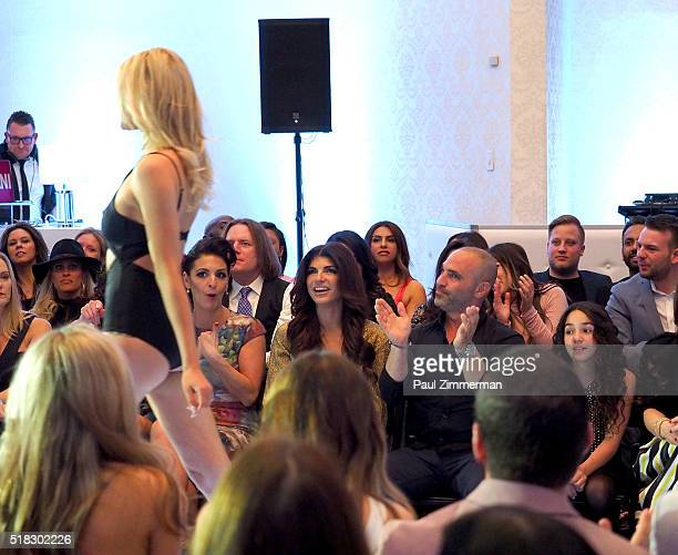 Teresa Giudice and Joe Gorga attend the envy By Melissa Gorga Fashion Show at Macaluso's on March 30 2016 in Hawthorne New Jersey