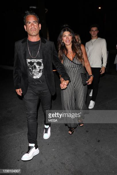 Teresa Giudice and Luis Ruelas are seen leaving Craig's on May 25, 2021 in Los Angeles, California.