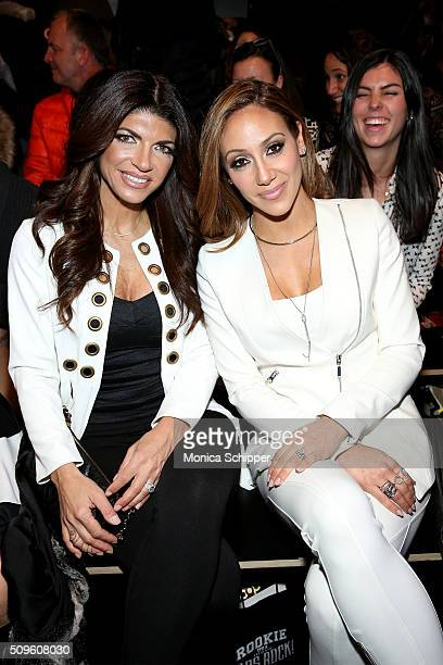 Teresa Giudice and Melissa Gorga attend the Rookie USA Presents Kids Rock Fall 2016 fashion show during New York Fashion Week The Shows at The Dock...