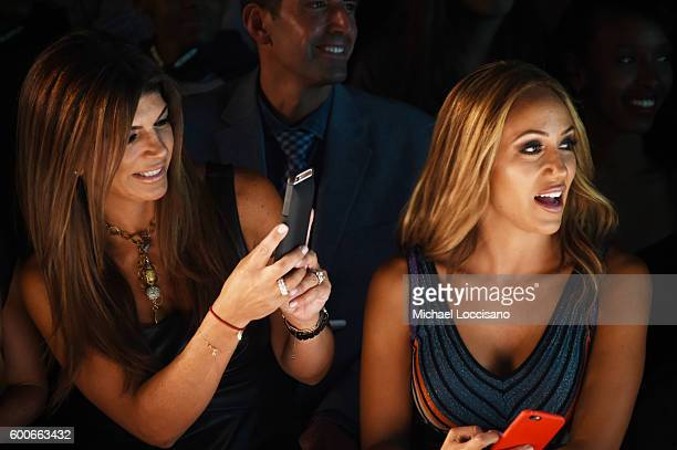 Teresa Giudice and Melissa Gorga attend the Rookie USA Presents Kids Rock during New York Fashion Week The Shows September 2016 at The Dock Skylight...