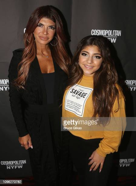 Teresa Giudice and Milania Giudice pose at the Cosmopolitan New York Fashon Week #Eye Candy event After Party at Planet Hollywood Times Square on...