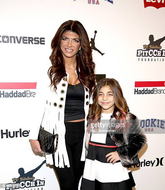 Teresa Giudice and Milania Giudice pose backstage at the Rookie USA Presents Kids Rock! - Front Row & Backstage - Fall 2016 New York Fashion Week:...