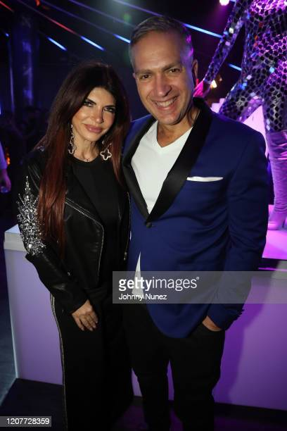 Teresa Giudice and Slate NYC owner Aristotle Hatzigeorgiou attend Slate NYC's 20th Anniversary Party at Slate NYC on February 20, 2020 in New York...