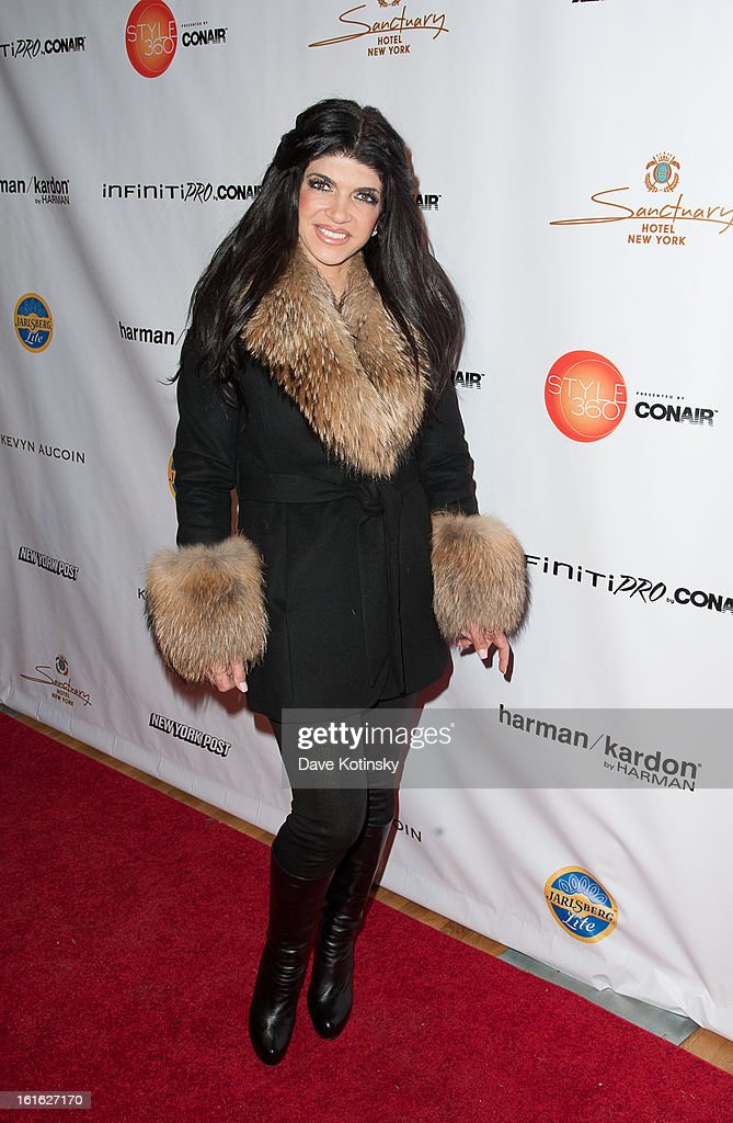 Teresa Giudice arrives at the Boy Meets Girl By Stacy Igel 2013 Style360 Fashion Show at Style360 on February 13, 2013 in New York City.