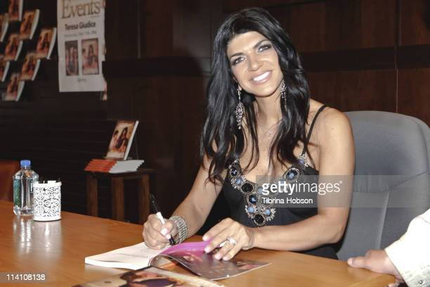 Teresa Giudice at her book signing for 'Fabulicious' at The Grove Barnes Noble in Los Angeles on May 11 2011 in Los Angeles California