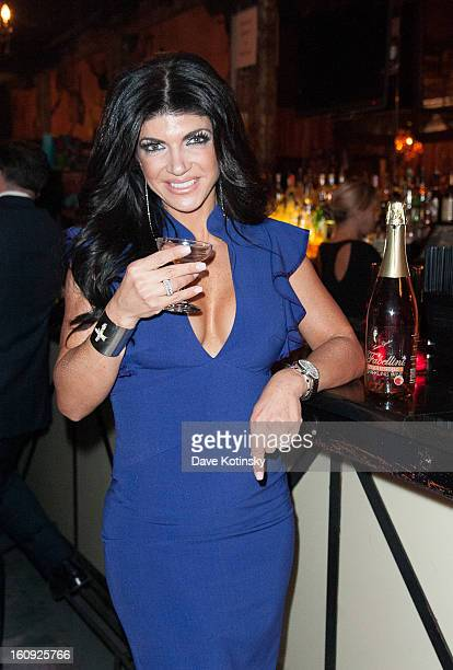 Teresa Giudice attends Cuffs By Kim D Party during Fall 2013 Fashion Week at Lair on February 7 2013 in New York City