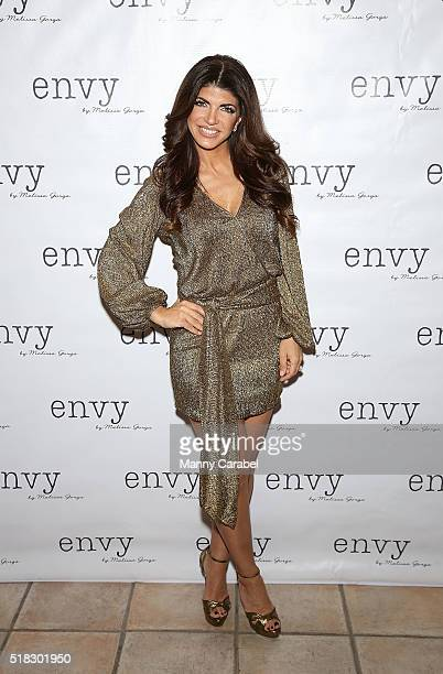 Teresa Giudice attends the Envy by Melissa Gorga Fashion Show at Macaluso's on March 30 2016 in Hawthorne New Jersey