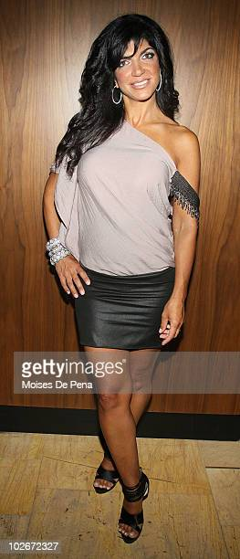 Teresa Giudice attends the Real Housewives Get Personal book signing after party at Kastel at Trump Soho Hotel on July 6 2010 in New York City