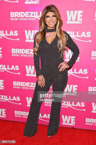 Teresa Giudice attends WE tv Launches Bridezillas Museum Of Natural Hysteria on February 22 2018 in New York City